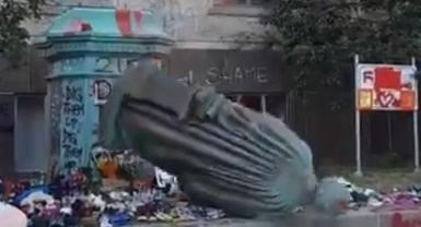 Footage Of Toppled Statue in Canada Draws Reactions From Neo-Nazis And Propagandists