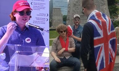 White Nationalists Stage Failed Demo at John A. Macdonald Statue in Downtown Hamilton