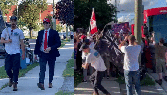 Known White Nationalists Spotted At Violent Anti-Trudeau Demonstration
