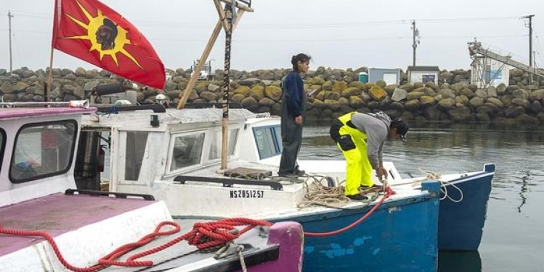 Indigenous fishing boats land 100,000 pounds of lobster from Nova Scotia bay