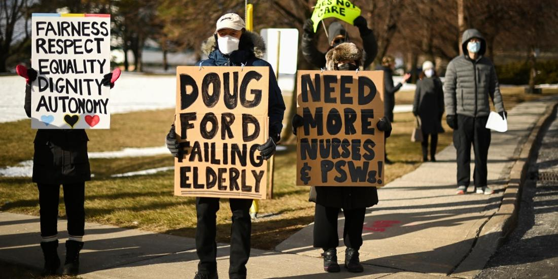 Ontario reports 2,923 new COVID cases as protest continue outside scarborough long-term care home