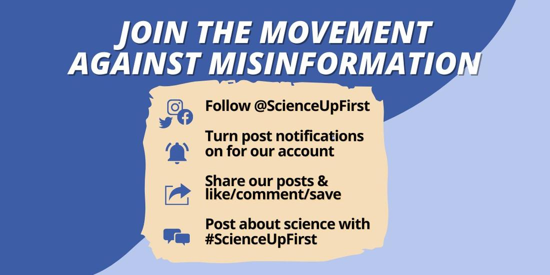#ScienceUpFirst campaign takes on disinformation that aids COVID-19 spread