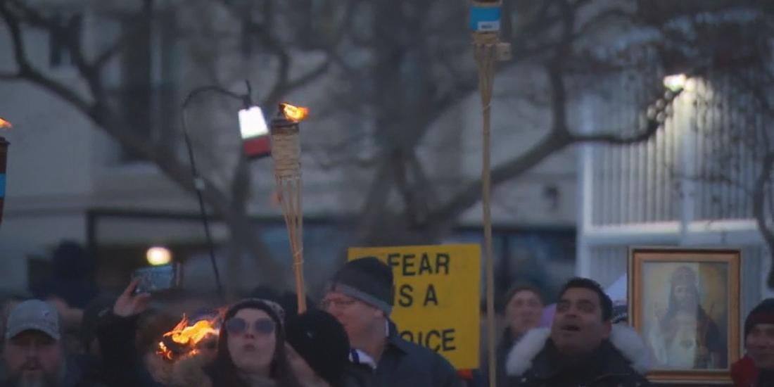 Alberta cabinet minister breaks silence on Edmonton torch parade