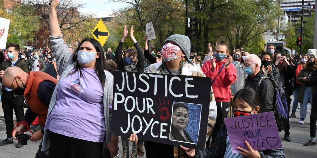 Protests across Quebec after eight women killed in eight weeks