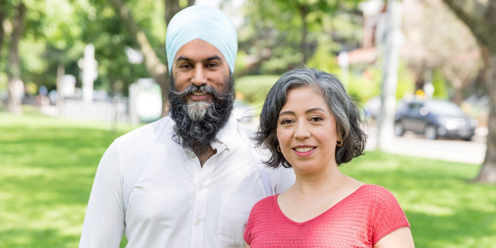 Jagmeet Singh & Alejandra Bravo