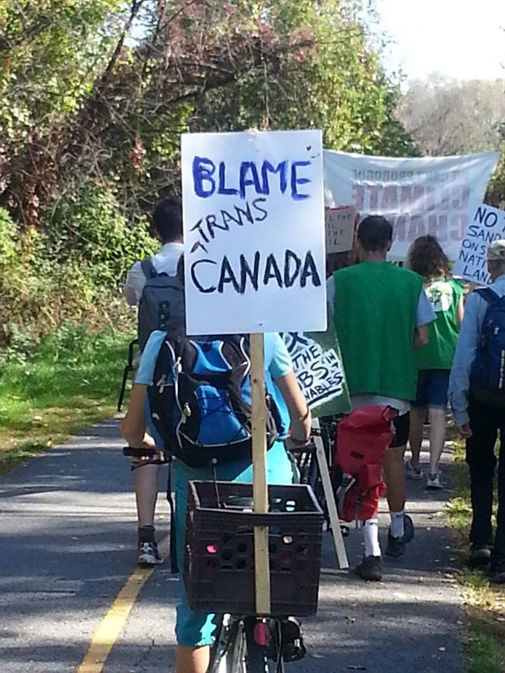 Blame TransCanada! And stop the proposed Energy BEast pipeline. About an hour from City Hall. See you there.