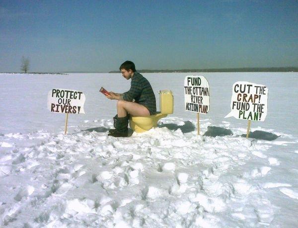cut the crap ORAP river toilet sewage