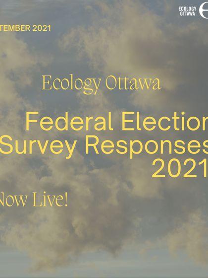 Réponses au sondage sur les élections fédérales 2021