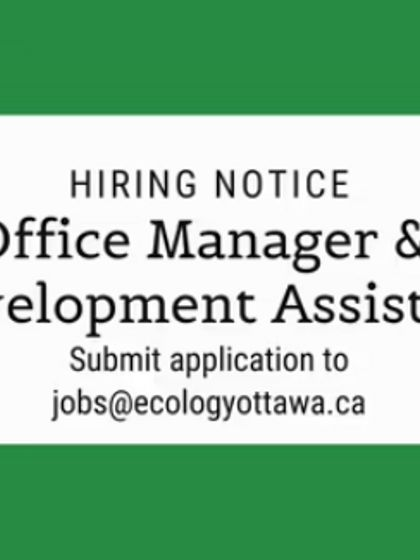 AVIS D'EMPLOI : Office Manager et Assistant de développement