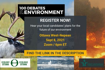Green, Liberal, New Democrat and PPC candidates confirm attendance for Ottawa West—Nepean environment debate this evening