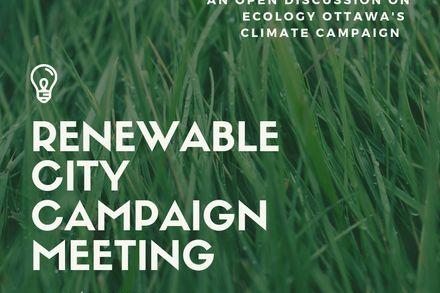 Renewable City Campaign Meeting