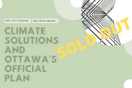 Climate Solutions and Ottawa's Official Plan - SOLD OUT