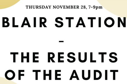 The results of the Blair station audit
