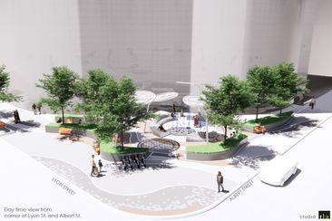 New Urban Park at Albert & Lyon