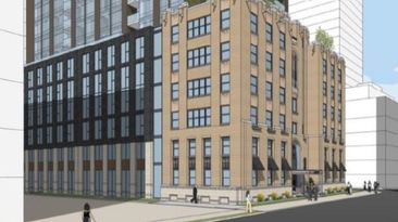 Developer to gut heritage building for 27-storey tower