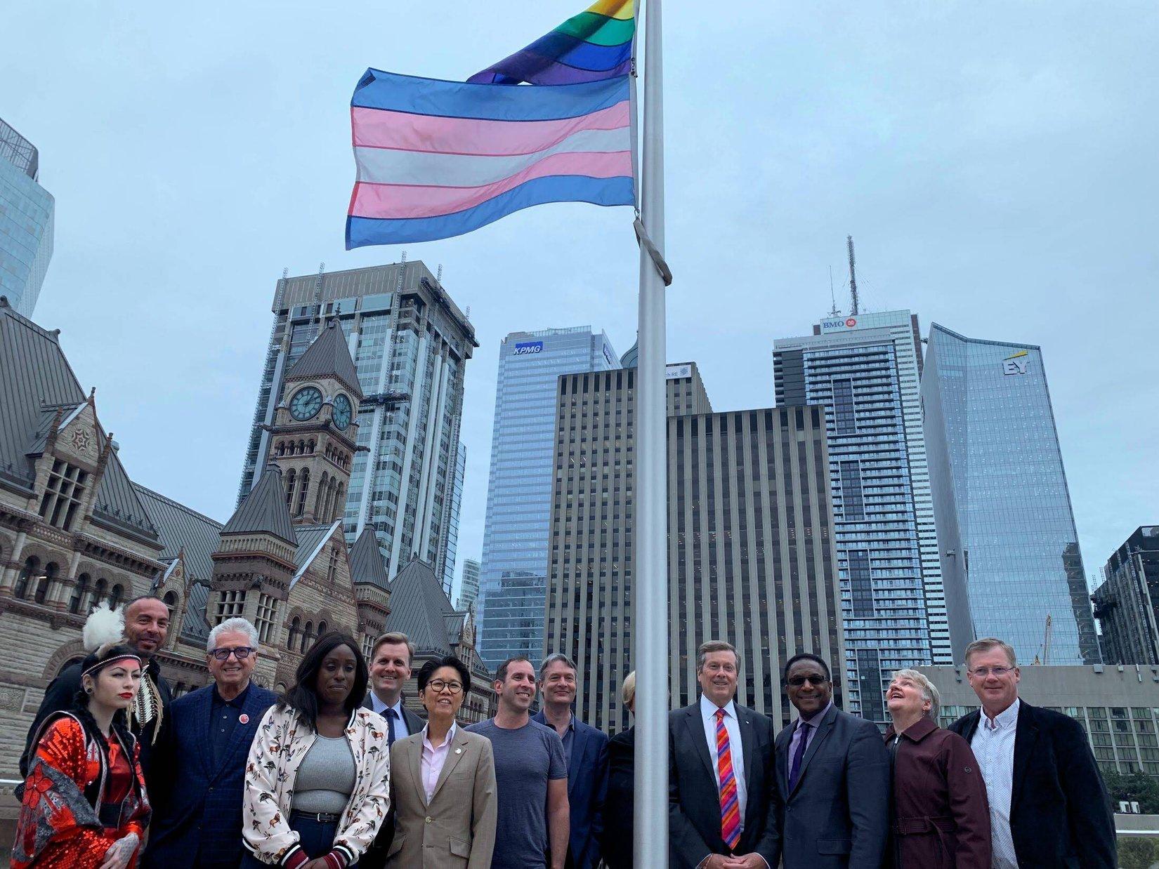 Trans Flag Raising