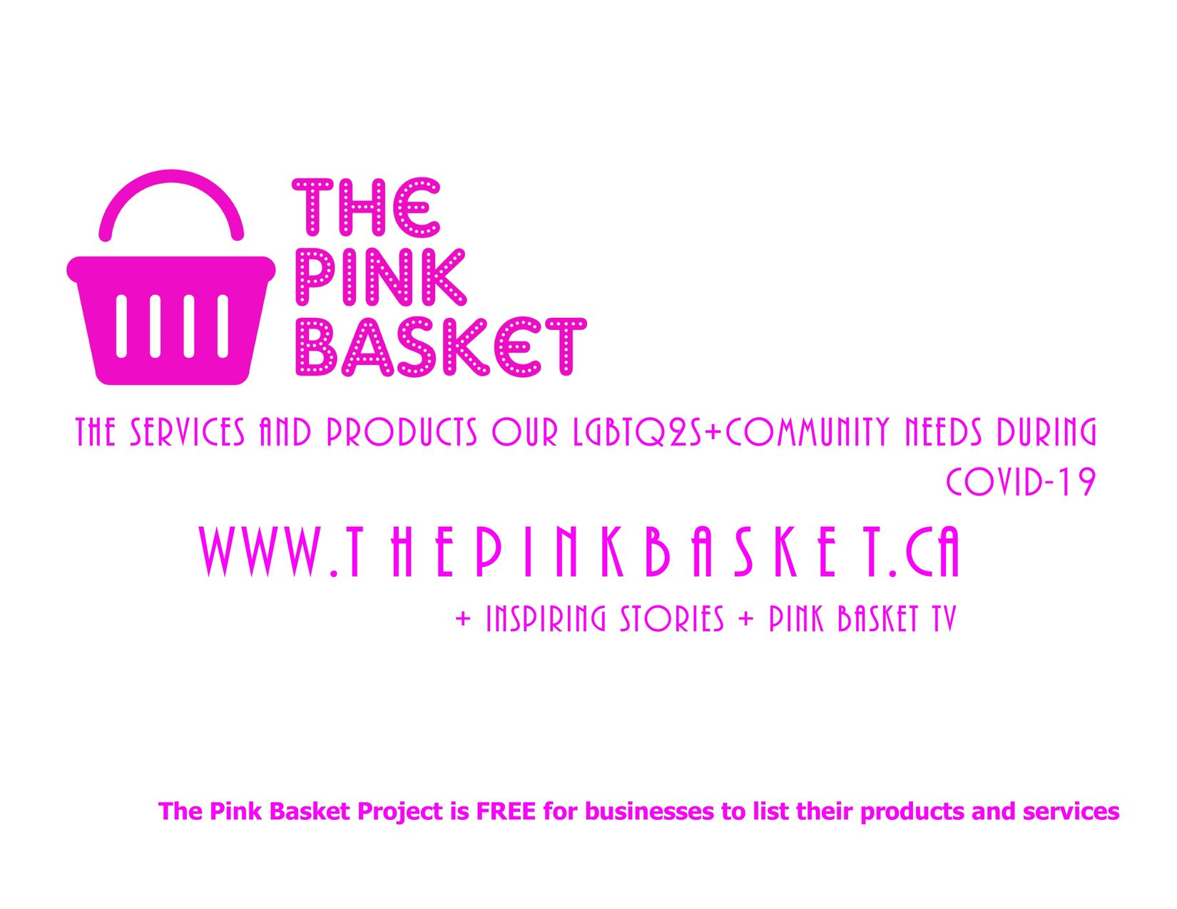 Promotional graphic for The Pink Basket Project
