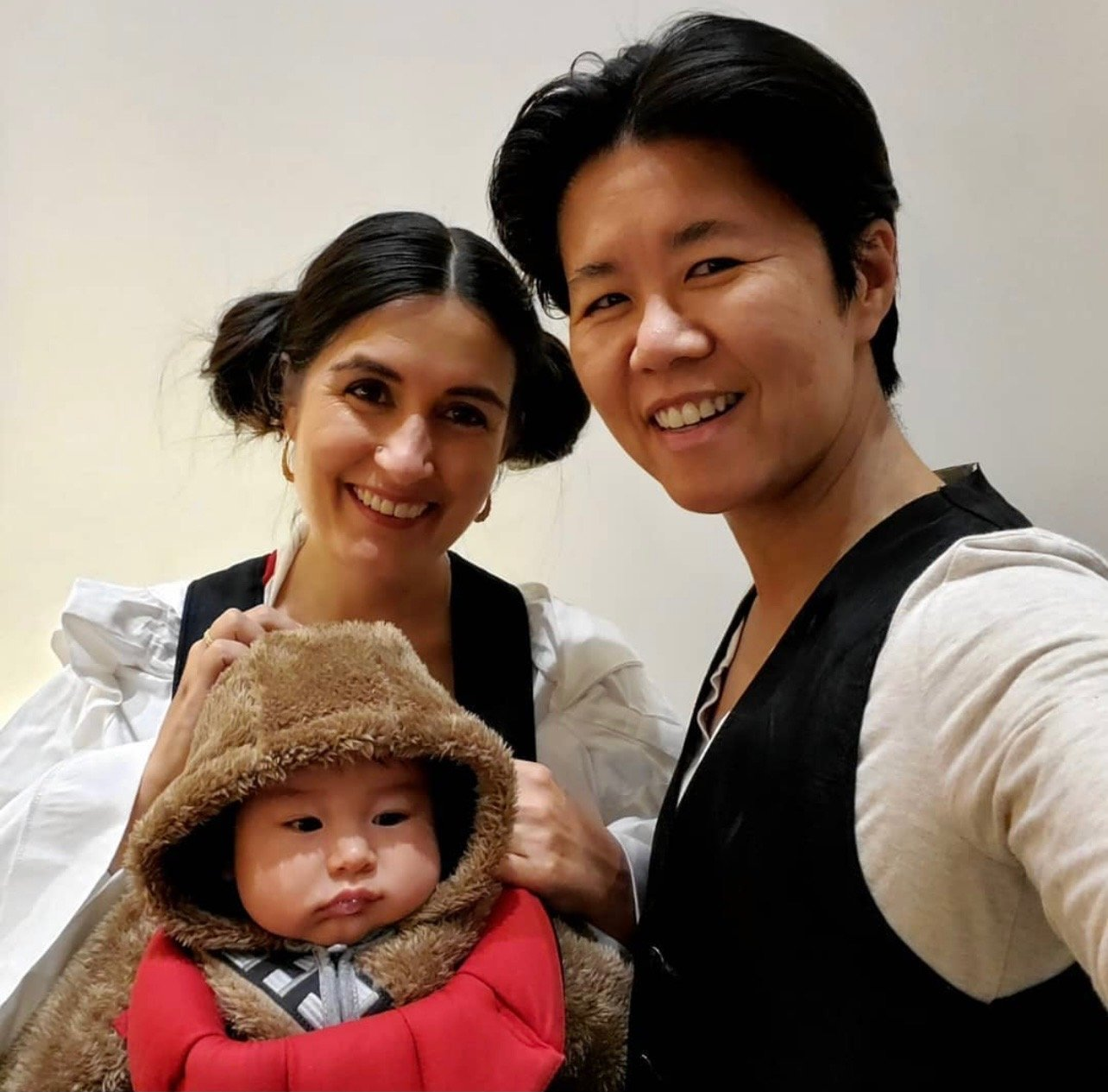 A picture of Councillor Wong-Tam's family dressed in Star Wars costumes