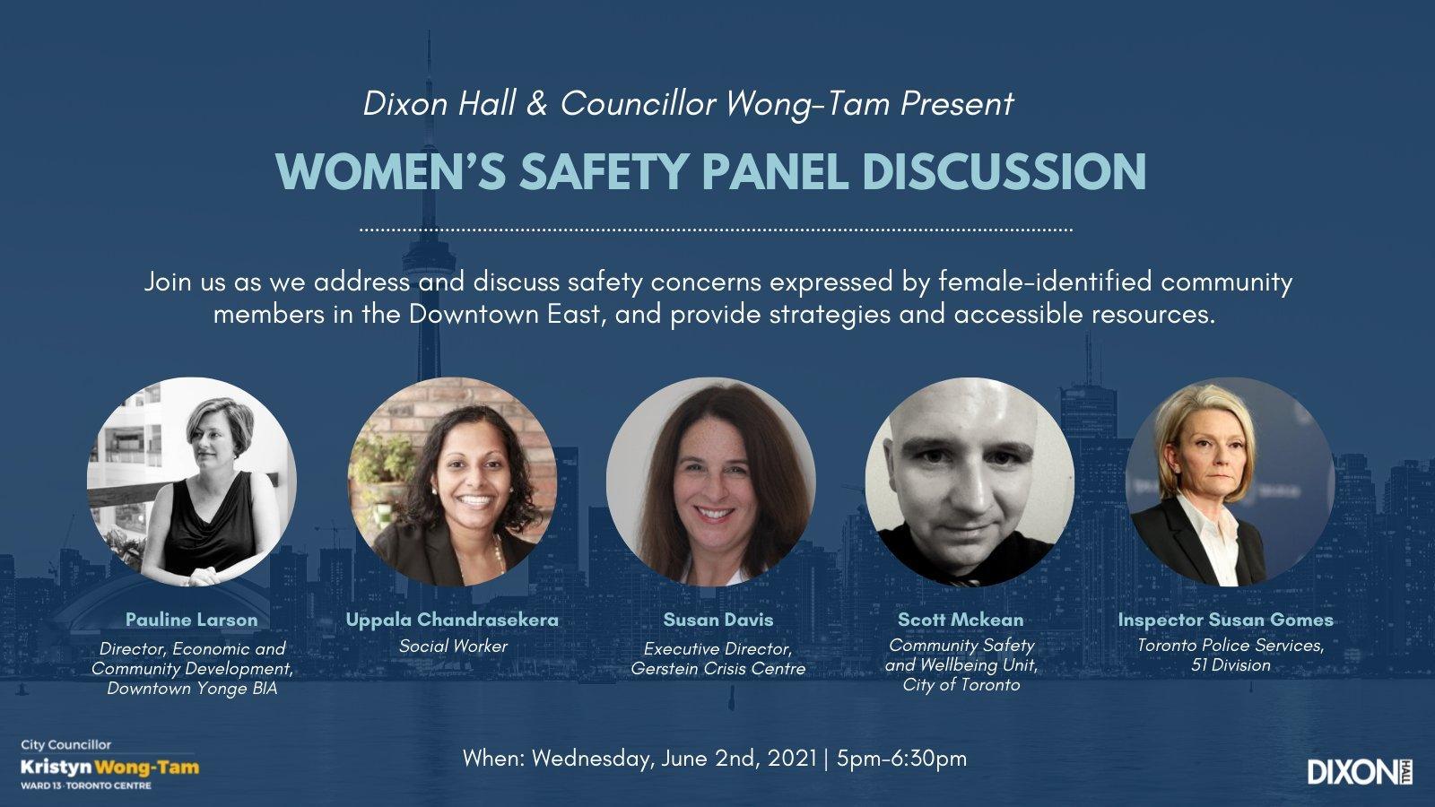 Women's Safety Panel promotional graphic
