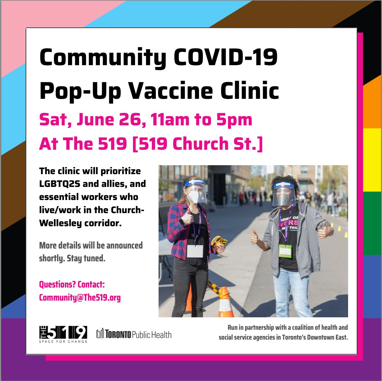 Vaccine pop-up promotional graphic