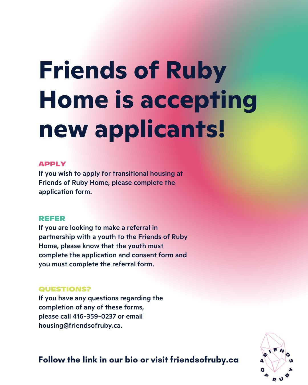 Friends of Ruby application informational graphic