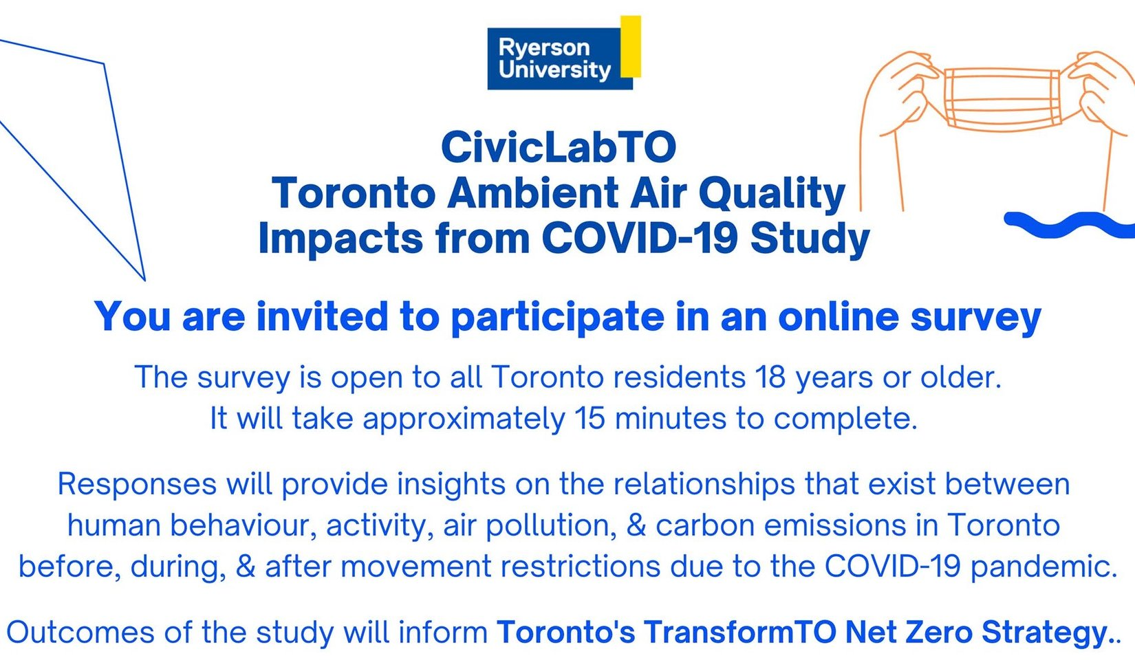 Air Quality & COVID Survey promotional poster
