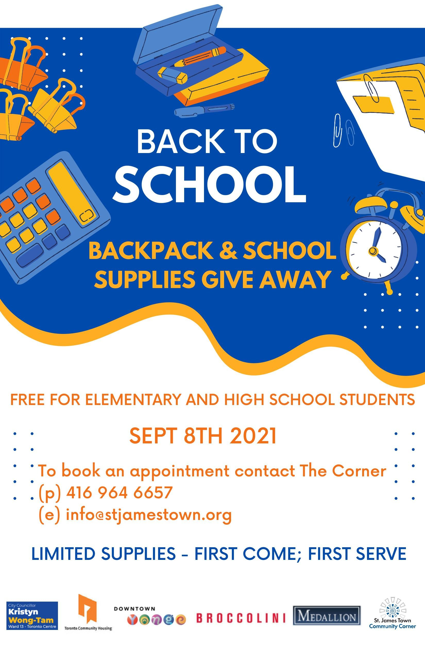 Back-to-school drive poster