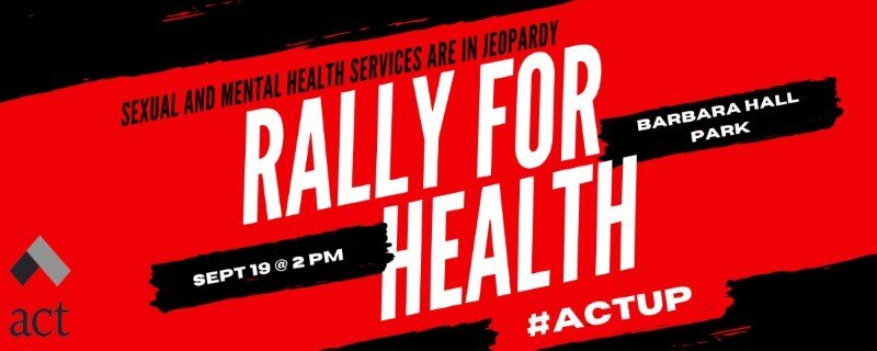 Rally for Health promotional poster