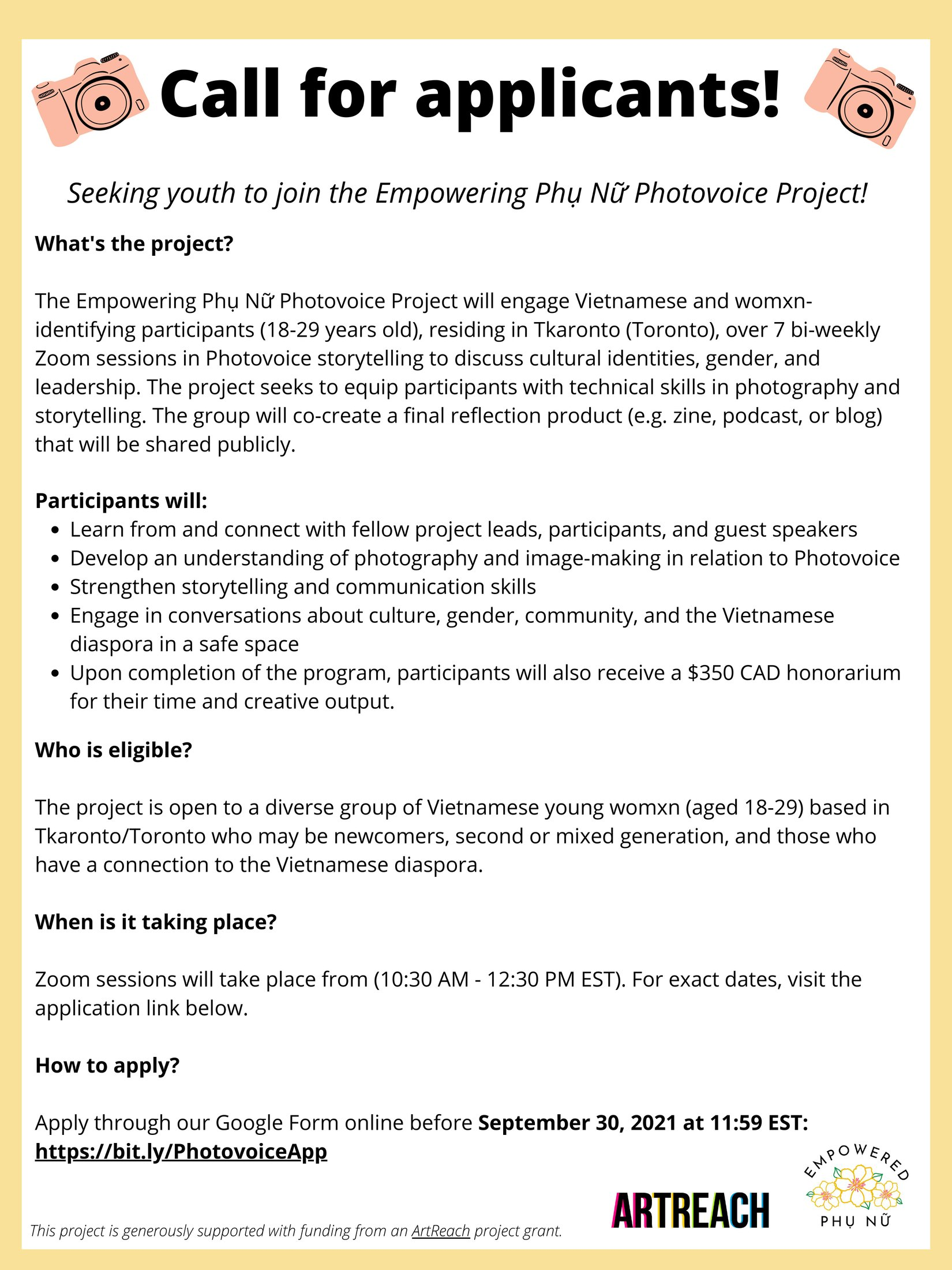 Empowering Phụ Nữ Photovoice Project poster