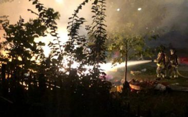 Fire breaks out at homeless encampment in downtown Toronto
