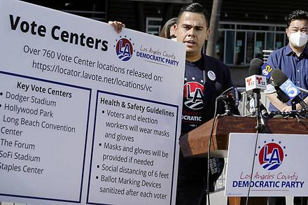 LA County Democrats Outline Voting Options, Urge People to Cast Ballot Early
