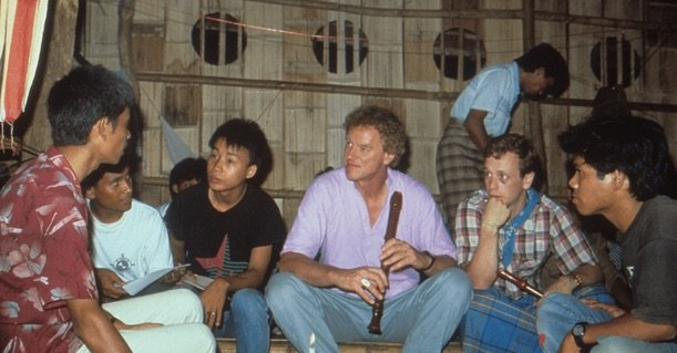 Michael Beer and George Lakey, guest trainers at the Federal University in Manerplaw, Burma in May 1990.