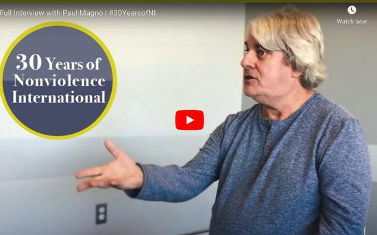 Celebrating 30 Years of Nonviolence International - Paul Magno