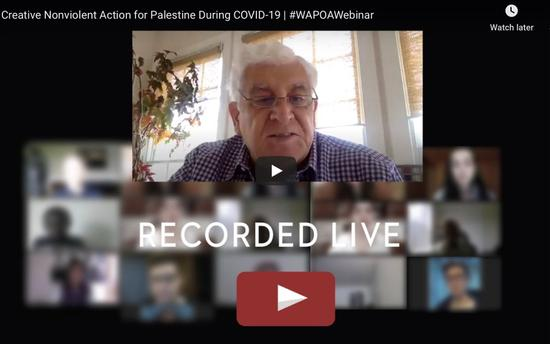 Creative Nonviolent Action for Palestine During COVID-19 - Webinar