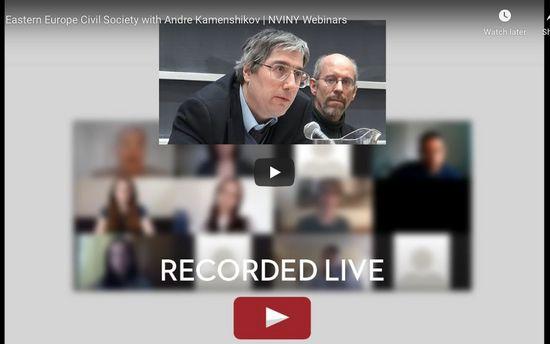 Andre Kamenshikov speaks with NVI NYC's Interns