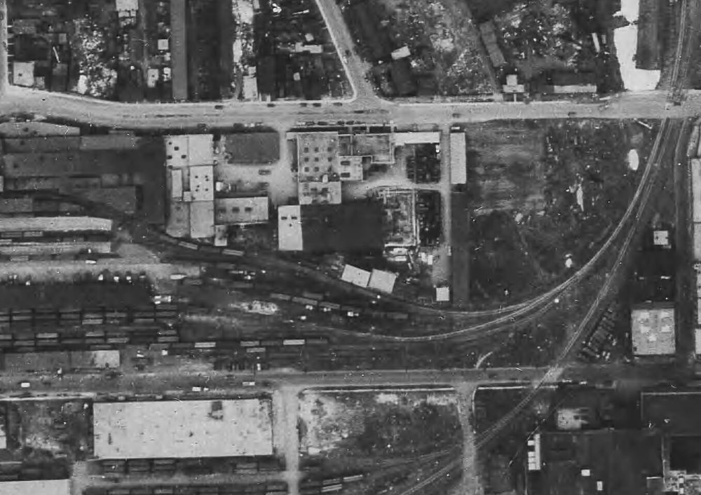 Aerial view of the area in 1947