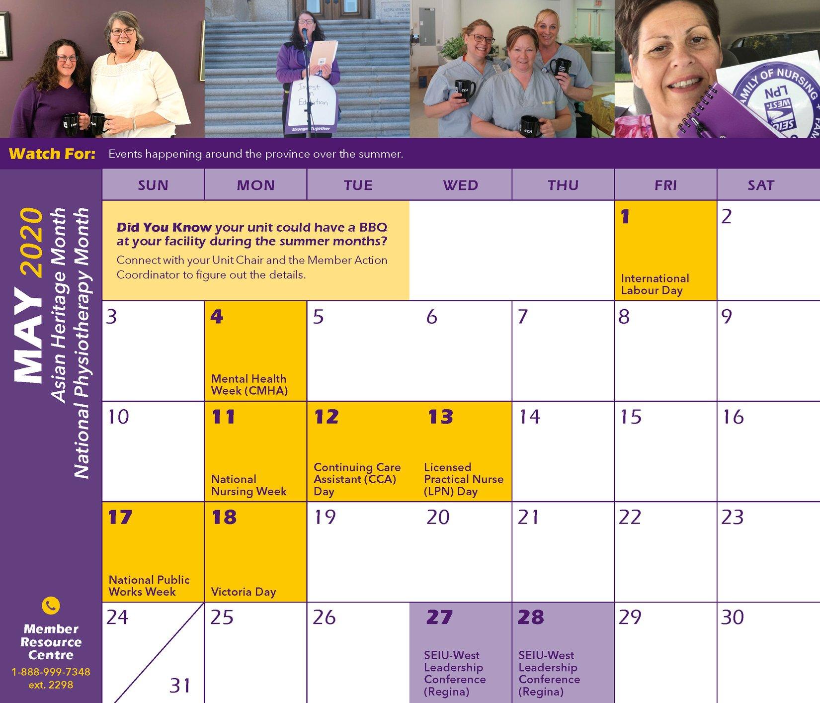 May 2020 Pocket Calendar Page