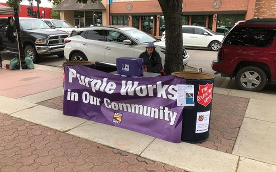 Purple Organizes a Donation Drive in Swift Current!