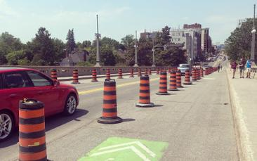 Temporary Bicycle Lanes Coming to Carling Avenue