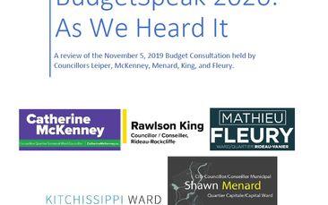 BudgetSpeak 2020: As We Heard It