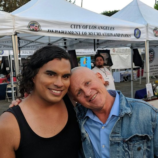 Justine Gonzalez, President of Los Angeles' Human Relations Commission, and Councilmember Mike Bonin