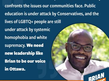 There aren't many queer leaders that make it to elected office. There are even fewer racialized queer people who make it. Chris is someone I've looked up to since I first learned about him years ago. He was the upstart looking to win Trustee in downtown Toronto. I got involved and realized that he had the right politics, the right approach, and the right identities for a leader. Chris has always been really supportive of my political endeavours and to me, this demonstrates the importance of working together and building together.