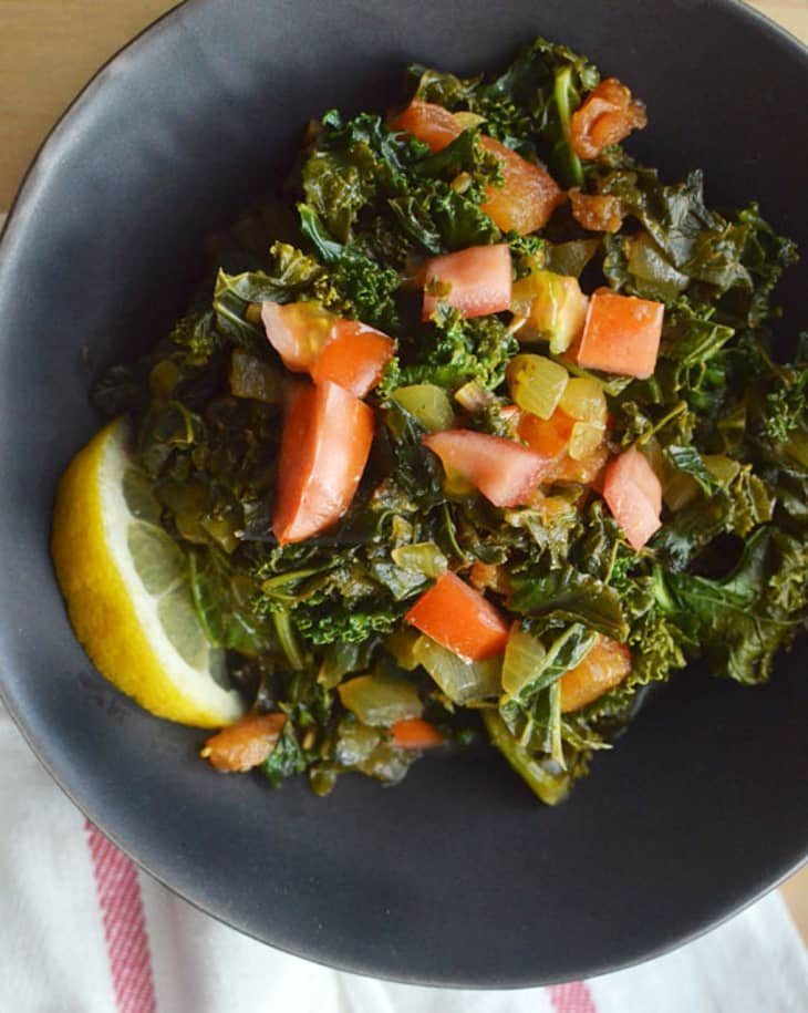 The Kitchn - Sukuma Wiki (African Braised Kale with Tomatoes)