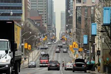 Wider sidewalks and fewer cars