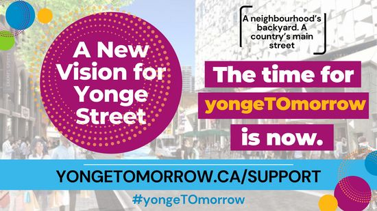 Did you know that over 180,000 people live within 10 minutes of downtown Yonge Street? Toronto is growing, and our most vibrant street in Canada has to catch up. Visit www.yongetomorrow.ca/support to tell City Councillors that you support the #yongeTOmorrow proposal